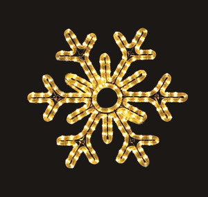 Hanging 60 Inch 6-Point Snowflake - Warm White (1040-W)