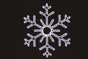 Hanging 48 Inch 6-Point Snowflake - Pure White (1030-P)