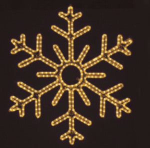 Hanging 36 Inch 6-Point Snowflake - Warm White  (1010-W)
