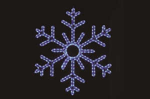 Hanging 60 Inch 6-Point Snowflake Blue , 5 feet rope light illuminating holiday, Christmas traditional outdoor decoration, window display,