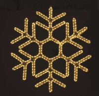Hanging 60 Inch Hexagon Snowflake - Warm White (1041-W)
