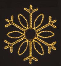 Hanging 48 Inch Single Loop Snowflake - Warm White (1032-W)