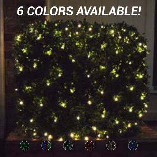 commercial-grade, outdoor, Christmas, holiday, LED, quality, durable, decoration, 2021, string lights, mini led, net lights, static, red, blue, multi, green, white