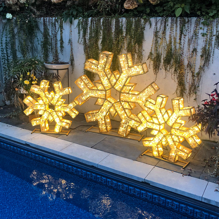 3D Selfie Motif Snowflake LED 2020 Holiday Lights Christmas Decoration