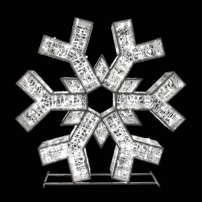"3D Standing Snowflake Motifs - from 25"" to 84"" Tall!"