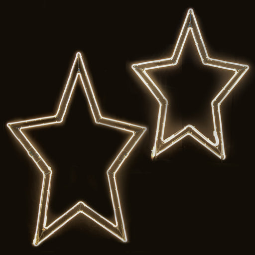 2D, Star, giant, life-size, motif, display, quality, commercial, LED, star ornament