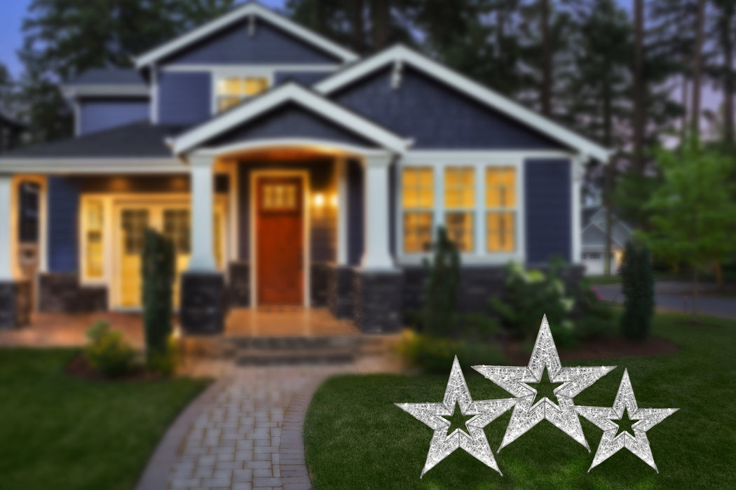 "3D Standing Star Motifs - from 24"" to 74"" Tall!"
