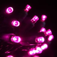 Pro 50 LED Strings - Green Wire - Fushsia/Pink (3203-F)
