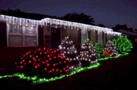 Pro LED Icicle Lights - Pure White (steady), outdoor holiday roof lighting, Christmas decorations