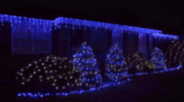 Pro LED Icicle Lights - Blue (steady)