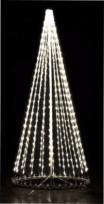 8 Ft. LED Tree - Pure (cool) White, Outdoor motif, rust-proof aluminum, Commercial Grade Light Strings, illumination