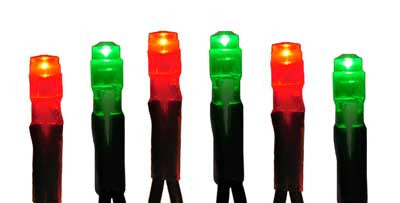Pro 50 mini Red and Green LED light strings, perfect for lighting trees and shrubs and for everyday outdoor decorating, holiday, Christmas  lights
