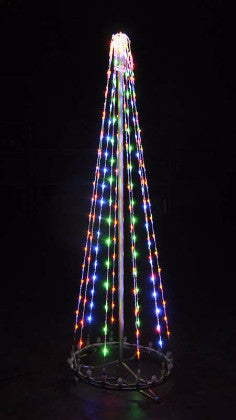 6 Ft. LED Tree - Multi (Twinkle),Commercial LED Light Strings, Aluminium Frames, Outdoor display