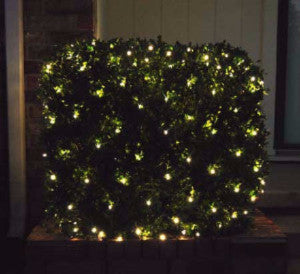 pro led net light warm white shrub and tree lighting outdoor holiday christmas