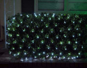 pro led net light pure white shrub and tree lighting outdoor holiday decoration