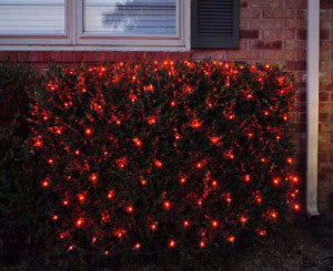pro led net light red shrub and tree lighting outdoor holiday decoration
