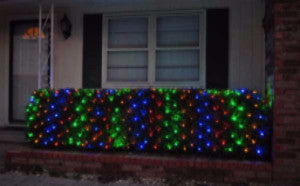 Pro LED Net Light - Multi, Shrub and tree lighting, outdoor holiday Christmas decoration