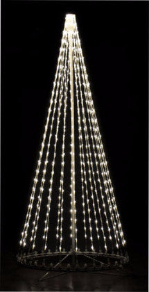 8 Ft. LED Tree - Pure (cool) White (Twinkle), Outdoor display, rust-proof aluminum, Commercial Grade Light Strings, illumination