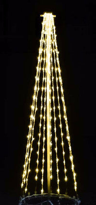 6 Ft. LED Tree - Warm White, Commercial LED Light Strings, Aluminium Frames, Outdoor motif