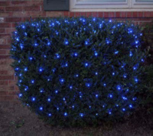 Pro LED Net Light - Blue, Shrub and tree lighting, outdoor holiday decoration