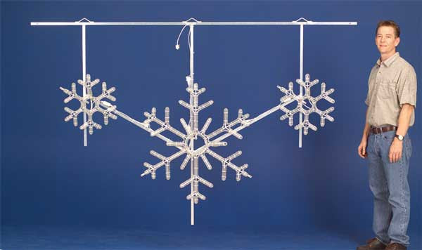 LED Snowflake Skyline Decoration - Warm White - 24 Ft.