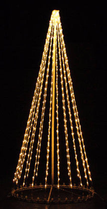 8 Ft. LED Tree - Warm White (Twinkle), Outdoor display, rust-proof aluminum, Commercial Grade Light Strings, illumination