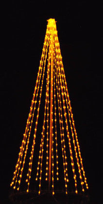 8 Ft. LED Tree - Yellow, Outdoor display, rust-proof aluminum, Commercial Grade Light Strings, illumination