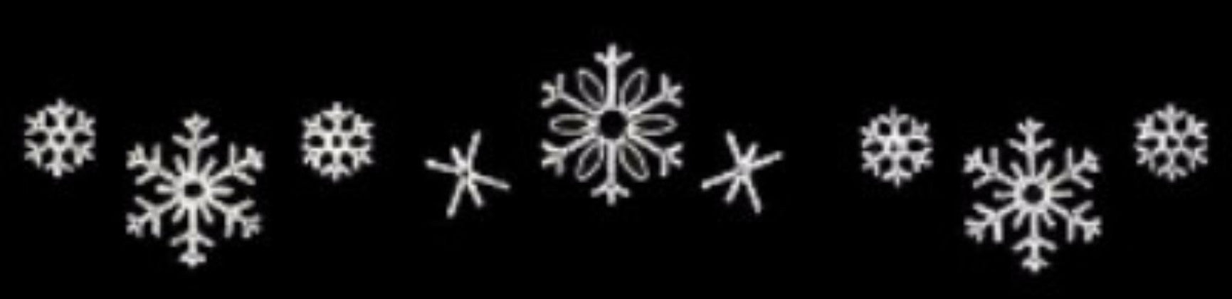 LED Snowflake Skyline Decoration – Pure White – 24 Ft, Aluminum LED