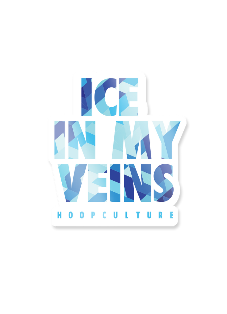 Ice In My Veins Vinyl Sticker Vinyl Sticker - Hoop Culture