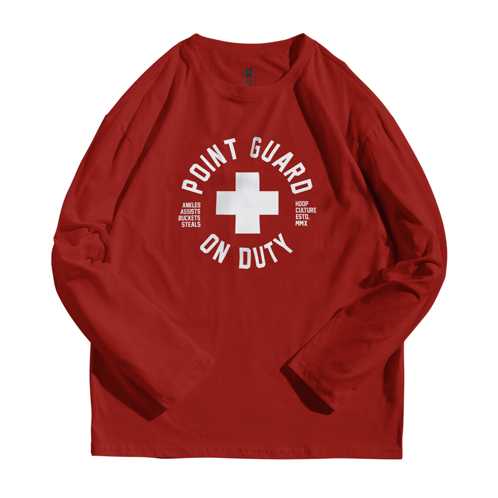 Point Guard on Duty -  Active Long Sleeve - Hoop Culture