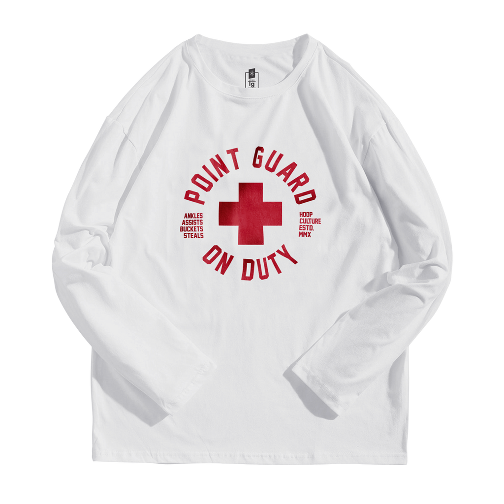 Point Guard on Duty -  Active Long Sleeve Long Sleeve - Hoop Culture