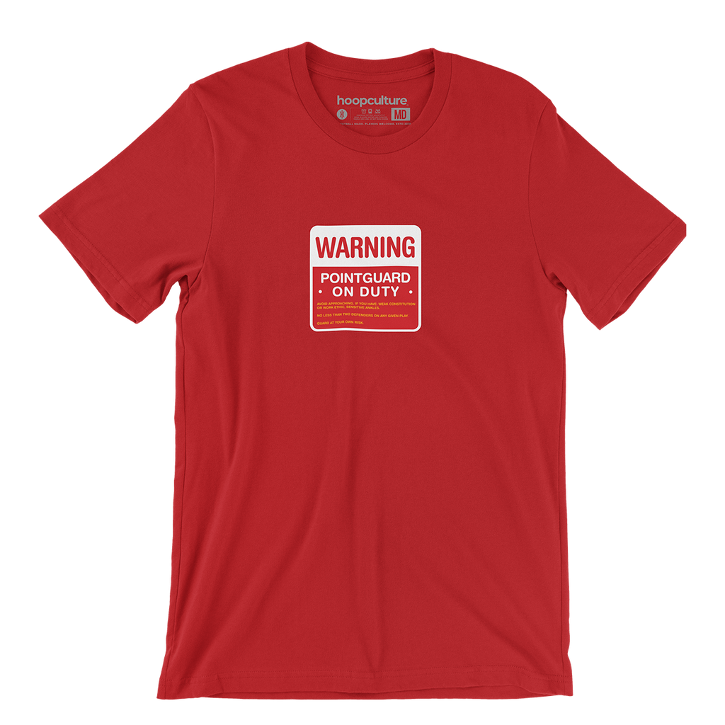 Warning PG Duty  T-Shirt - Hoop Culture