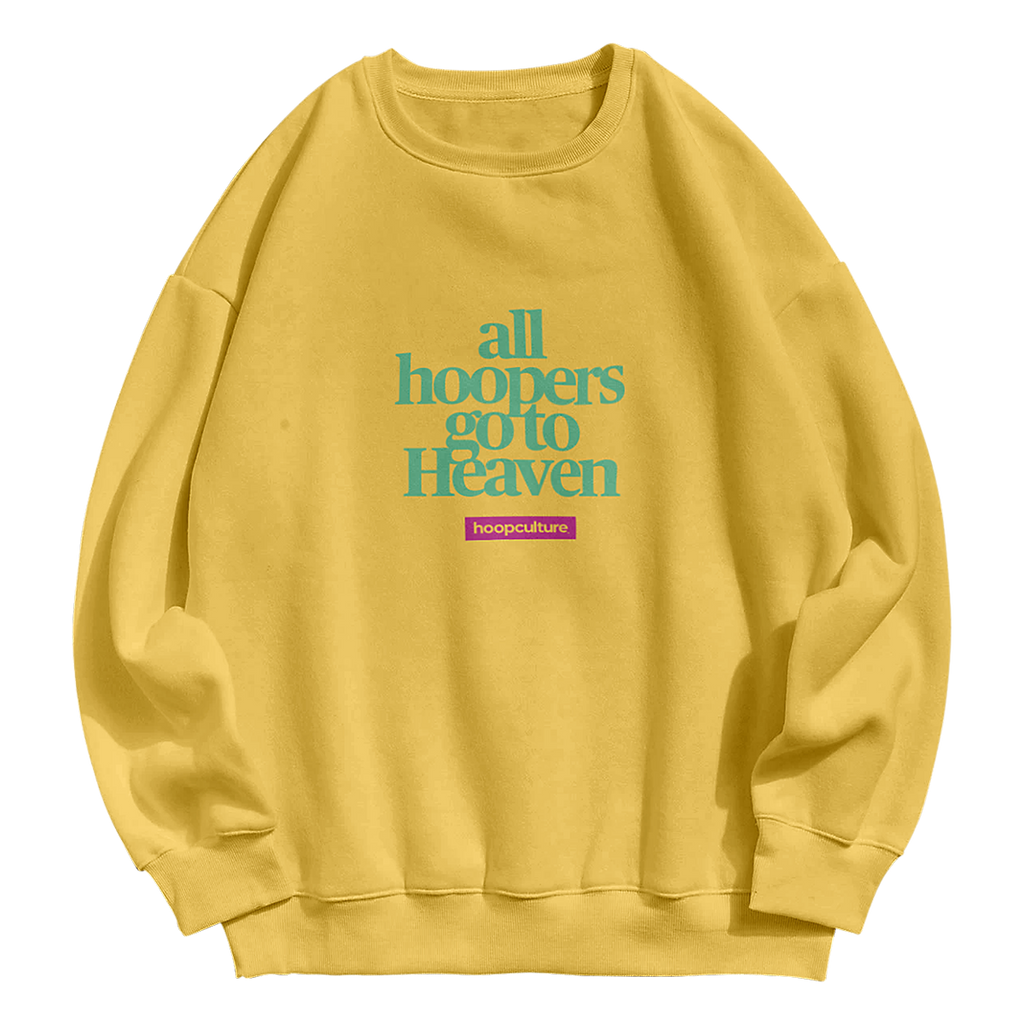 Hoopers Heaven Crew Neck Crew Sweater - Hoop Culture