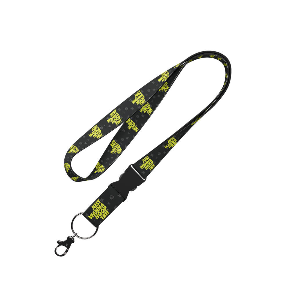Just Wanna Hoop Lanyard Lanyard - Hoop Culture