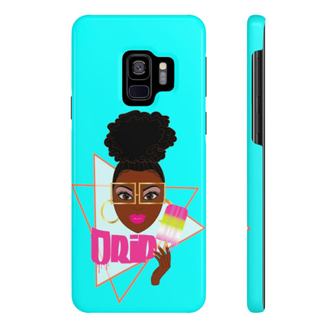 Drip Blue galaxy S9 S7 Case Mate Slim Phone Cases