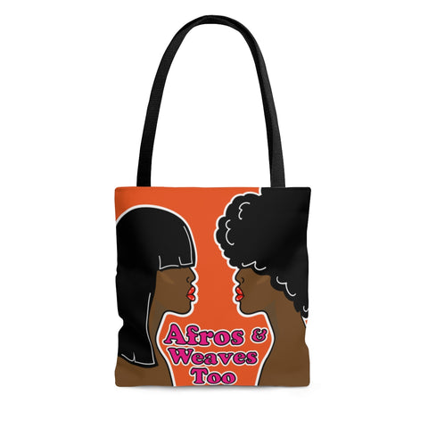 Afros and weaves too AOP Tote Bag