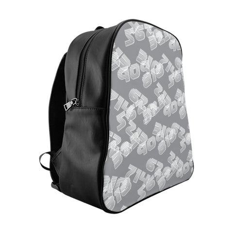 909 323 grey School Backpack