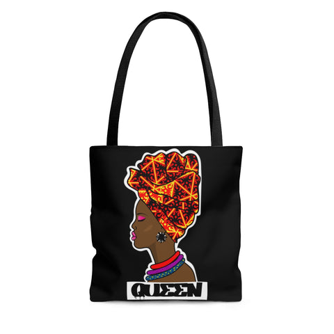 Queen Head Wrap AOP Tote Bag