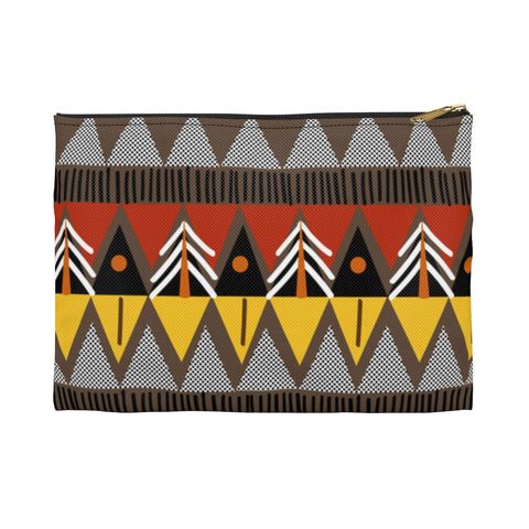 Geo African Print Accessory Pouch