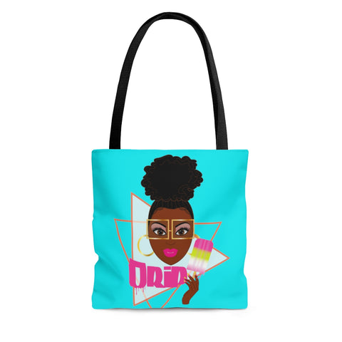 Drip blue AOP Tote Bag