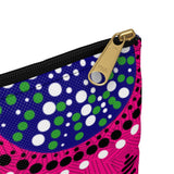 Pink African Print Accessory Pouch