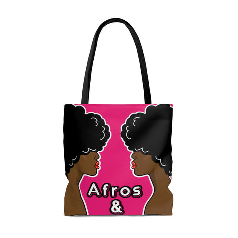 Afros and Weaves double sided AOP Tote Bag