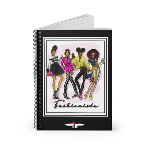 Fashionista Spiral Notebook - Ruled Line