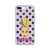 Blonde braids iPhone Case
