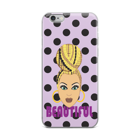 Beautiful Caramel Dot iPhone Case