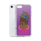 Brown Queen Ombre iPhone Case