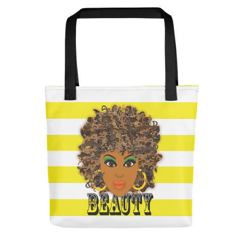 Brown Beauty Stripe Tote bag