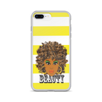 Brown Beauty Stripe iPhone Case