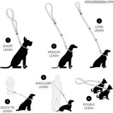 Double Leash for 2 Dogs - simply slide the leash through the by-pass loop to create a double dog walking leash.