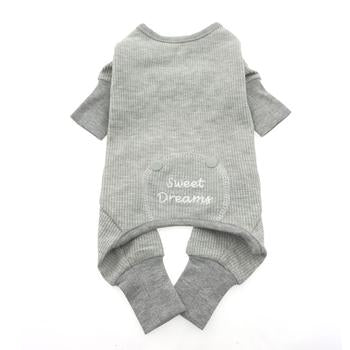 Sweet Dreams Thermal Dog Pajamas Alloy Gray